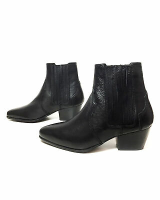785a9156186 MANGO WOMEN LEATHER cowboy ankle boots 43090351/99