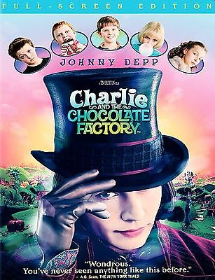 NEW! Charlie and the Chocolate Factory DVD Full Screen Johnny Depp
