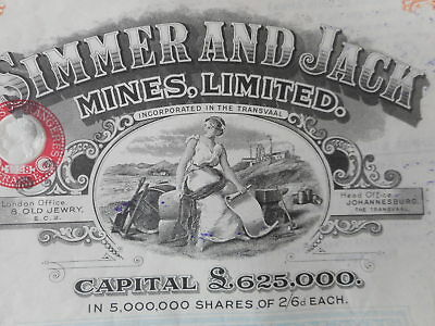 SIMMER & JACK Mines 1924    SOUTH AFRICA       GOLD MINING