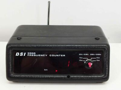 DSI 3550 Frequency Counter with Antenna - Powers On