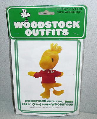 91459a9c2ee75 Vintage Peanuts Gang Determined Productions Woodstock RED KNIT SHIRT  MIP
