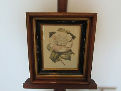 Antique East Lake Victorian Deep Walnut Gold Gilt/Ebony Etched Picture Frame