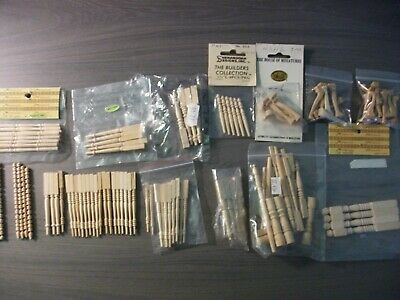 Dolls house - large selection of wooden furniture legs - many new and in bags