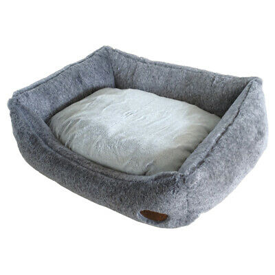 Nobby Dog Bed Rectangular Cuddly Light Grey, Various Sizes,