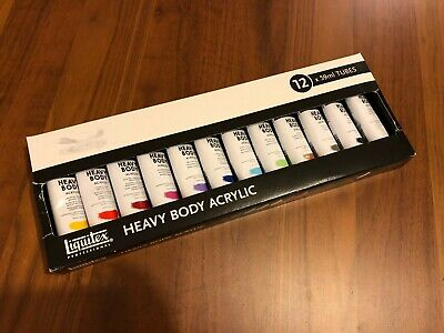 Liquitex Heavy Body Acrylic Paint - Set Of X12 Colours
