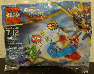 New LEGO 30546 DC Super Hero Girls Krypto Saves the Day Polybag 55 Pieces!