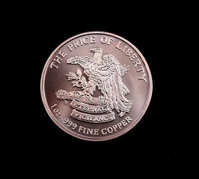 Don't Tread On Me - The Price of Freedom 1 oz .999 Fine Copper Round