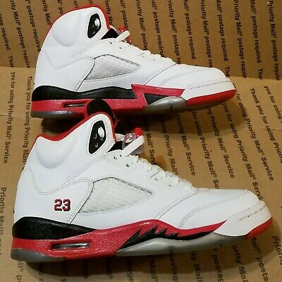 uk availability 72605 29a67 Nike Air Jordan 5 Retro Fire Boys Girls Kids Youth Sneakers Shoes Size 6.5Y  GUC