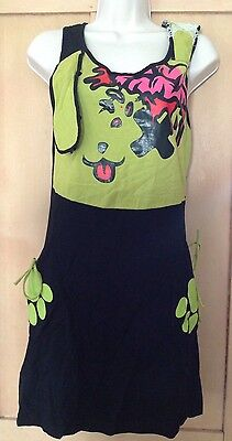 9c7f19918a04 Luv Bunny Brain Black green Zombie Mini Dress Goth Pockets 10 12 HALLOWEEN