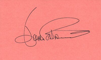 Romantic Joey Heatherton Actress Dancer Singer 1975 Movie Autographed Signed Index Card Entertainment Memorabilia