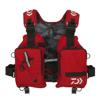 NEW Daiwa DF-6406 fishing game vest cloth life preserver RED