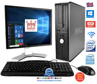 DELL / HP Office FULL PC Intel Dual Core 4GB RAM 2TB HDD SSD Windows 10 Desktop