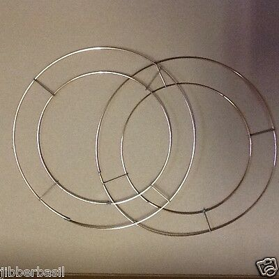 """Pair of 8"""" FLAT WIRE COPPER WREATH RINGS FRAMES FUNERAL"""