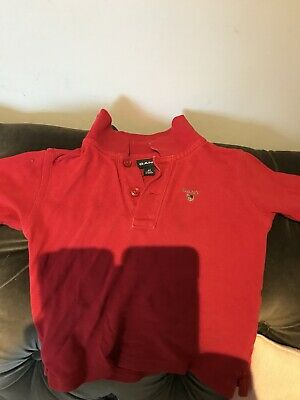 Baby Gant Polo Shirt Red 12 M