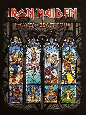 Iron Maiden - T-Shirt - Legacy of the Beast Tour 2018 Stainglas - Size XL - New