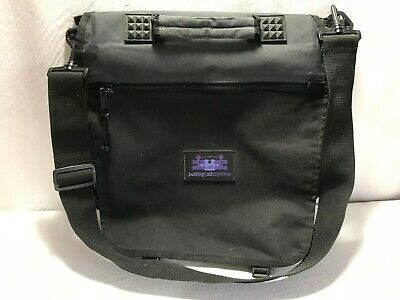 STAMPIN UP Black Messenger Tote Craft Storage Bag Adjustable Strap