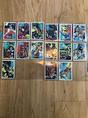 1966 Batman Blue Cards ~ Lot Of 15