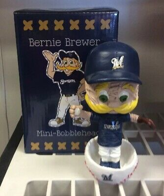 Milwaukee Brewers Bernie Brewer Stitch 'N Pitch Mlb 2018 Mini-Bobblehead Nib