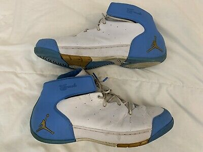 sports shoes 5a6c1 096e4 Nike Air Jordan CARMELO 1.5 MELO WHITE GOLD UNC BLUE NUGGETS 309265-171 Size  14