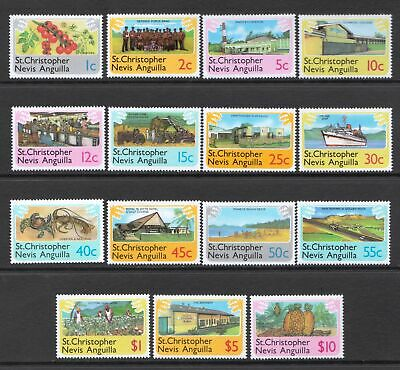 St Christopher Nevis Anguilla 1978 Local Scenes MNH Set - Cat £9 - (4)