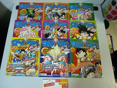 Lot de 9 le manga de legende dragon ball - Edition Hachette (style magazine)