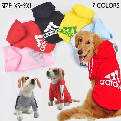Pet Dog Coat Jacket Fall Winter Clothes Puppy Sweater Hooded Clothing Apparel UK