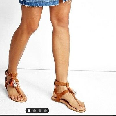 e965915a823 NEW UGG LECIA Tassel Leather Sandal, Chestnut Suede, Women Size 12 ...