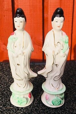 Chinese antique pair of figurines White Porcelain Beautiful