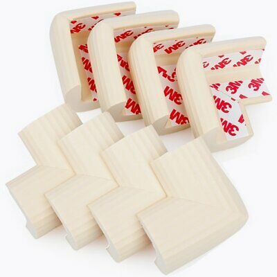 8 Pack Child Safety Corner Protectors Soft Foam Baby Proofing  w/ Tape Off White