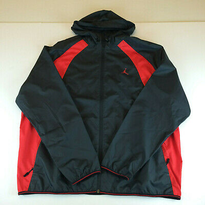 818a7c107d6e5d Nike Jordan Mens Wings Windbreaker Jacket Black 897884-015 Red sz 2XL XXL