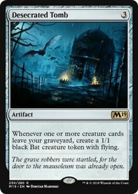 *4x Desecrated Tomb* Core Set 2019 MTG, Pack Fresh. Fast S&H.
