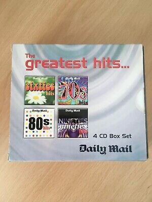 The Greatest Hits 4 cd box set 60's 70's, 80's & 90's Daily Mail-various artists