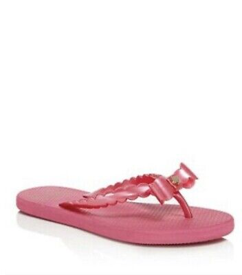 941898dd7a6f Kate Spade   Denise Flip-Flop Deep Pink Pearlized Rubber Bow Sandals SZ6 BS7
