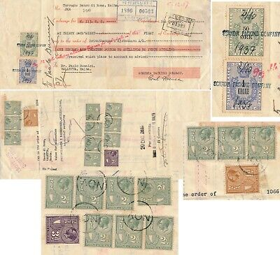 Denmark - Malta 1937, Rare Bill Of Exchange With Mixed Franking Revenues  #z169