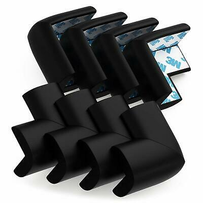 8 Pack Child Safety Corner Protectors Soft Foam Baby Proofing Pre Taped Black