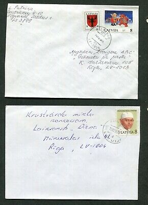 Lot Of 10 Covers From Latvia (10 Scans)