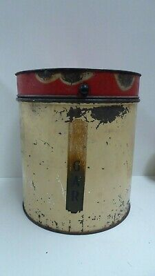 Art Deco Tin Sugar Canister Vintage Retro Kitchen Australiana Kitchenalia