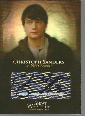 Breygent Ghost Whisperer Christopher Sanders Ned Banks Autograph Sdcc