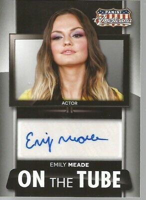 Panini Americana On The Tube Emily Meade Actor Autograph