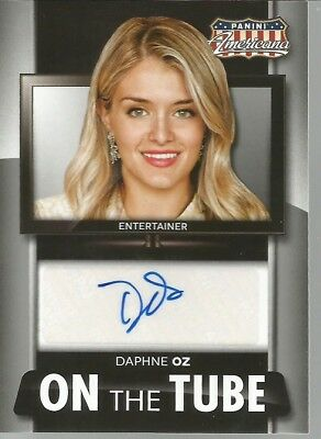 Panini Americana On The Tube Daphne Oz Autograph