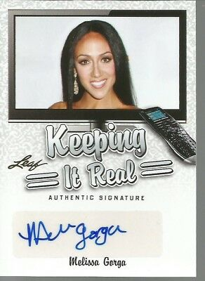 Leaf Keeping It Real Melissa Gorga Autograph