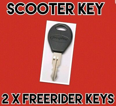 2 x FREEERIDER Mobility Scooter Key REPLACEMENT IGNITION KEYS