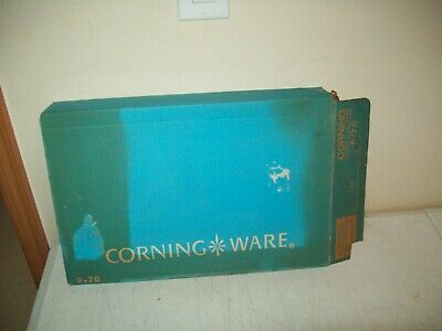 vintage Corning Ware Roaster with racks no. P-76 NEW OLD STOCK Cornflower in box