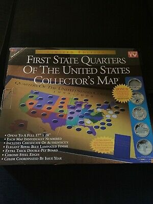 First State Quarters Of The United States Collector's Map 1999-2008 Limited Edit