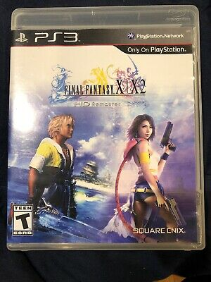 FINAL FANTASY X/X-2 HD Remaster (Sony PlayStation 3, 2014) Game And Case