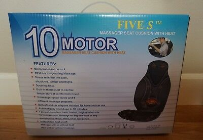 10-Motor Five S FS8812 Massager Vibration Seat Cushion With Heat