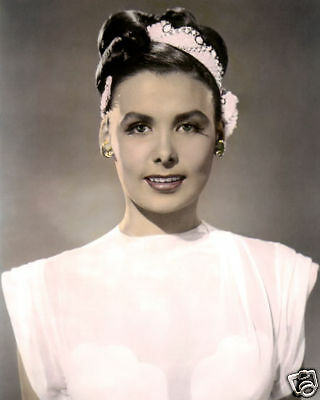 """LENA HORNE TILL THE CLOUDS ROLL BY 1946 ACTRESS 8x10"""" HAND COLOR TINTED PHOTO"""
