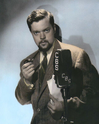 "ORSON WELLES ACTOR DIRECTOR WRITER PRODUCER 8x10"" COLOR HAND TINTED PHOTOGRAPH"