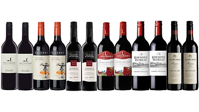 Red Wine Mixed Cabernet Sauvignon Ultimate Dinner Pack 12x750ml Free Delivery