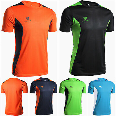 12c95a19 Men's Gym Fitness Sportswear Summer Casual Quick Dry Stretch Tee Tops T- shirts